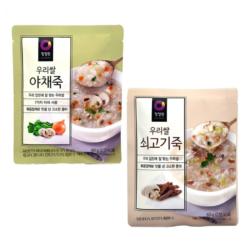 청정원 우리쌀 쇠고기죽 야채죽 즉석죽