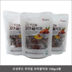 오성푸드 우리밀 꼬마꿀약과 150g - 3봉